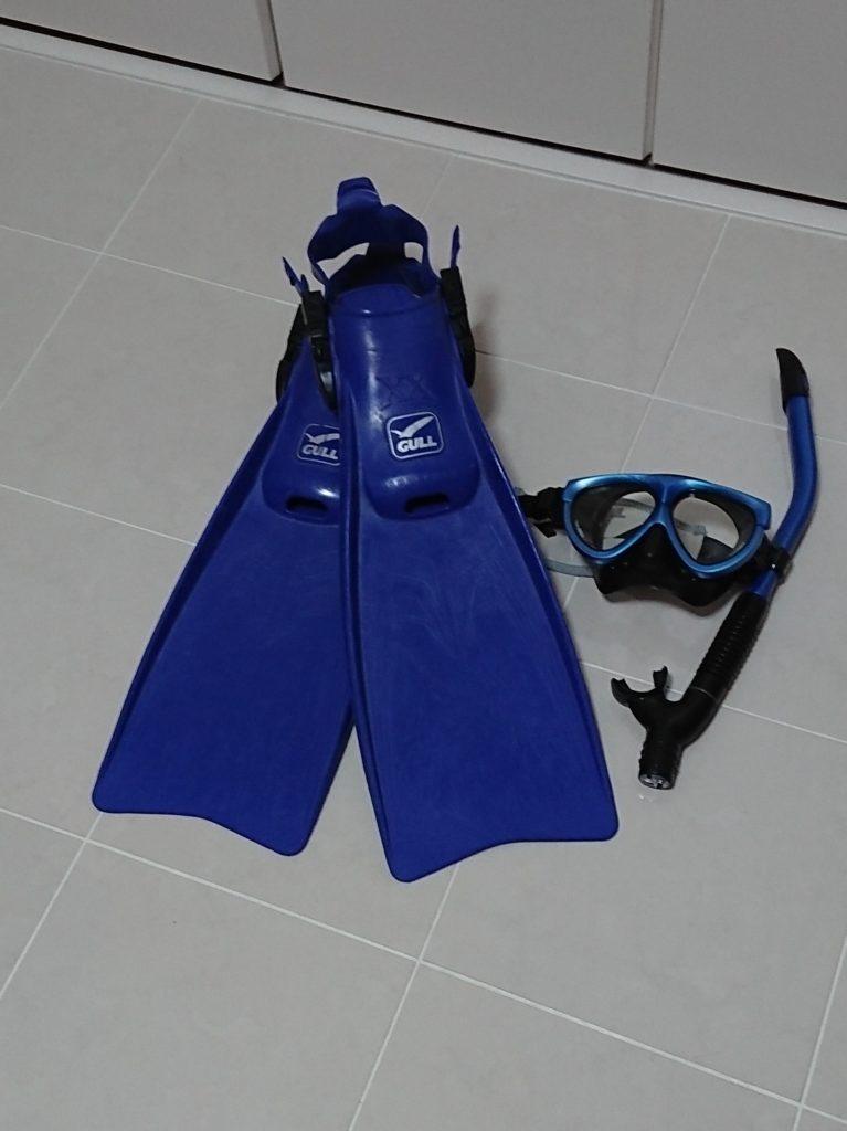 ダイビング器材 フィンとマスク